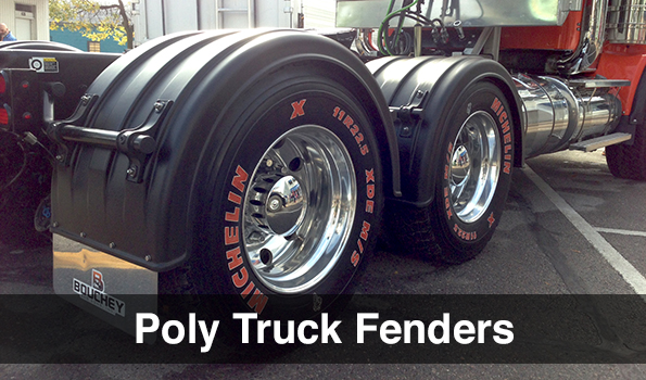 For A Semi Tractor Fenders : Semi fenders for big trucks poly dumpster lids robmar