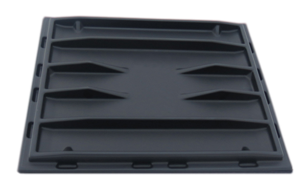 S-2430 | Sliding Door Poly Dumpster Lid