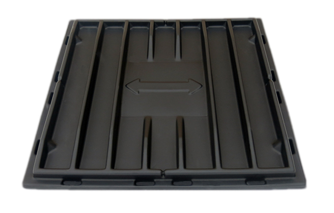 S-3030 | Sliding Door Poly Dumpster Lid