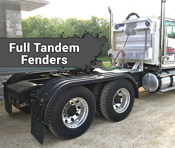 Heavy Duty Poly Full Fenders (Double Axle)