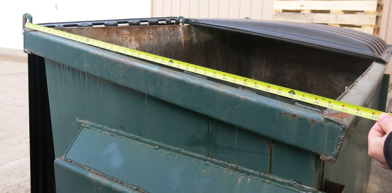 Measuring A Front Load Dumpster