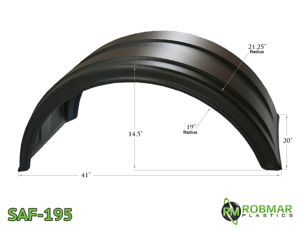 SAF-195 | Single Axle Poly Fender Pair