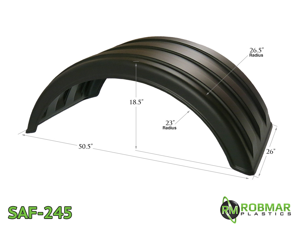 SAF-245 | Single Axle Poly Fender Pair