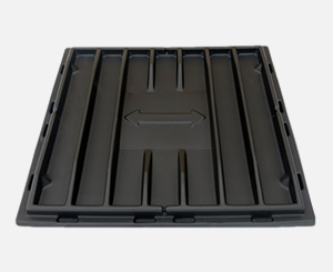 Poly Sliding Door Dumpster Lids