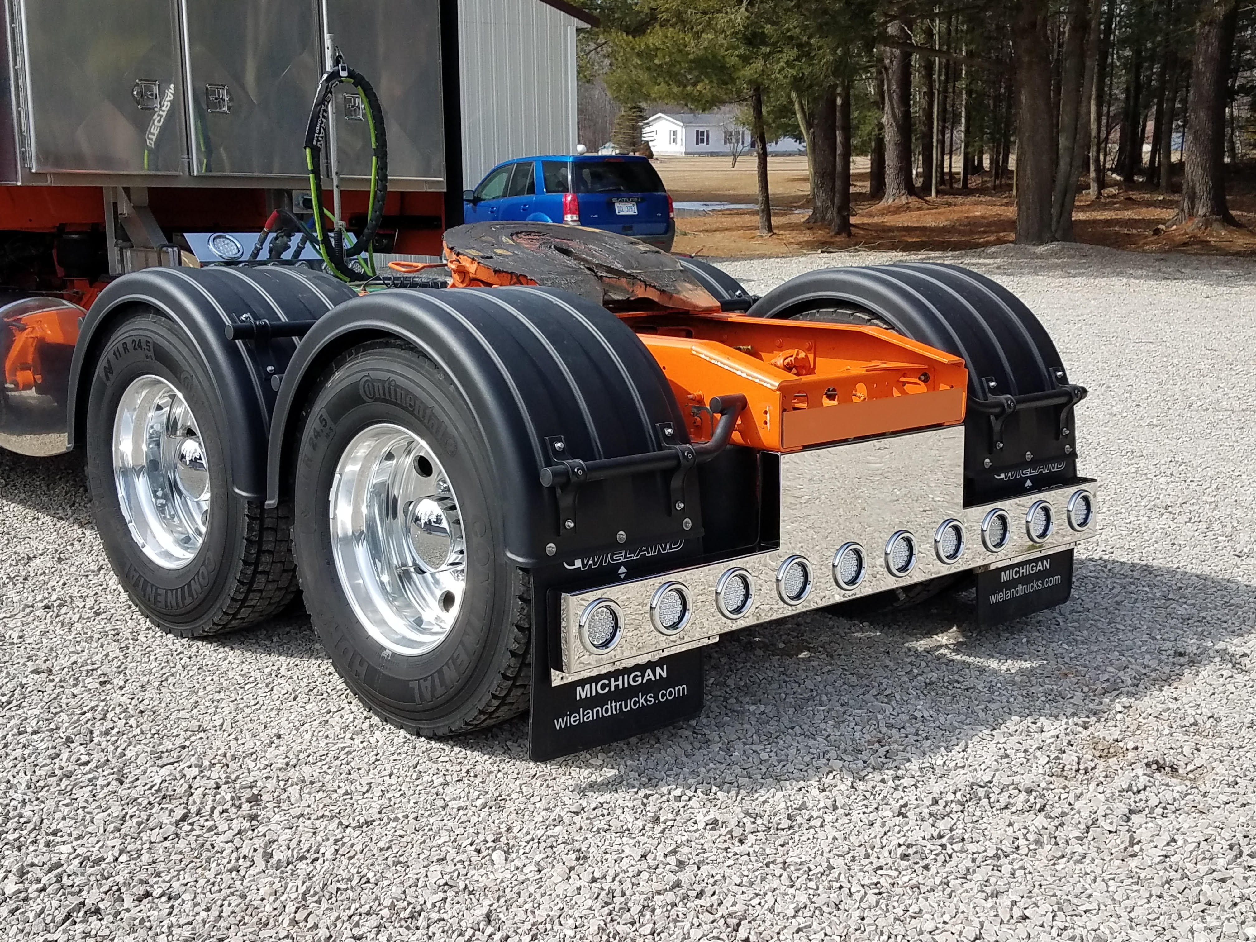 Black Single Axle Poly Fenders