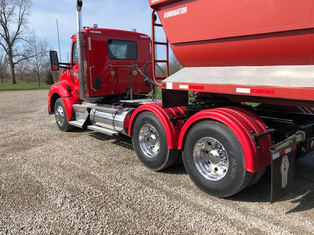 Red Single Axle Poly Fenders