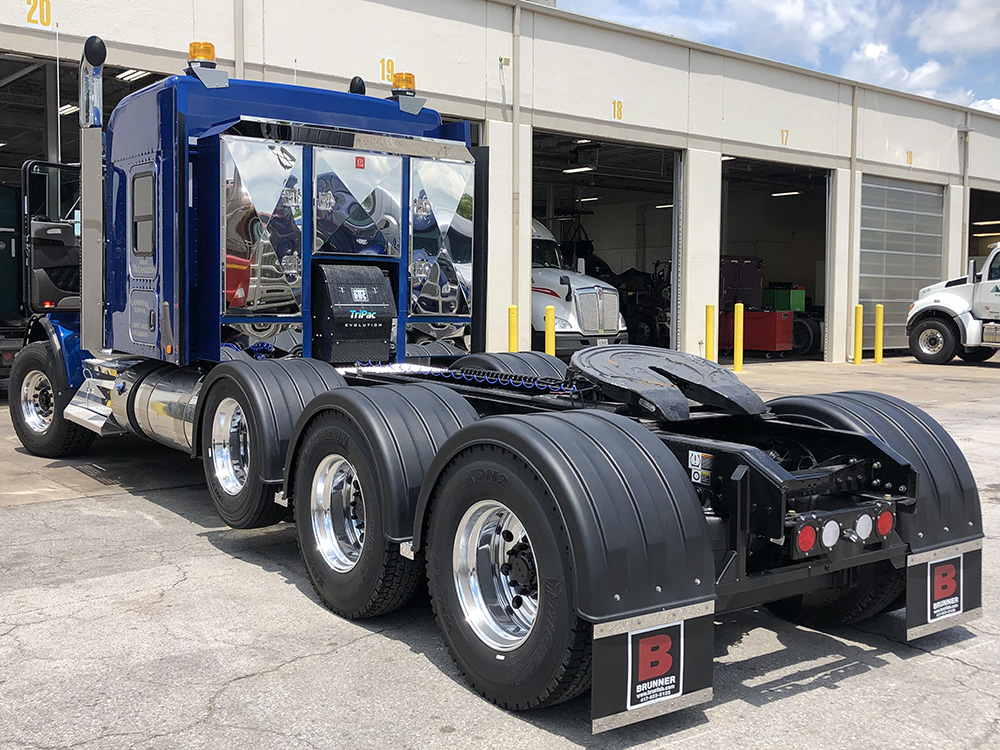 Single Axle Poly Fenders with 3 Axle Setup