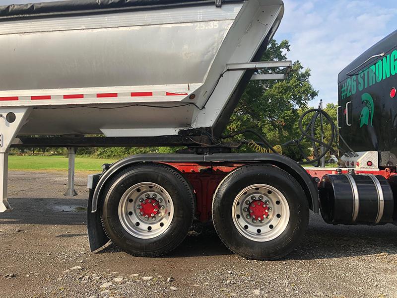 Black Poly Full Tandem Truck Fenders