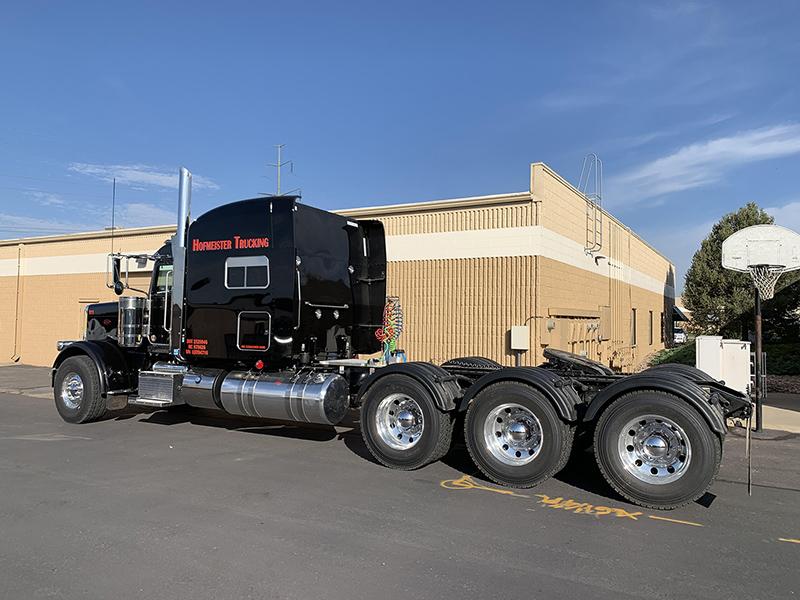 Black Poly Single Axle Truck Fenders
