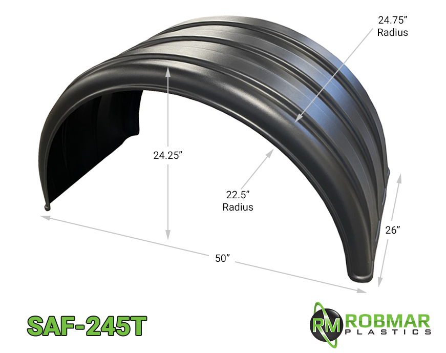 SAF-245T | Single Axle Poly Fender Pair