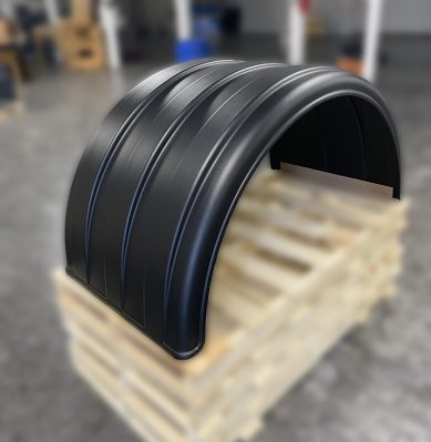 Single Axle Poly Fender for Tall 24.5 Tires